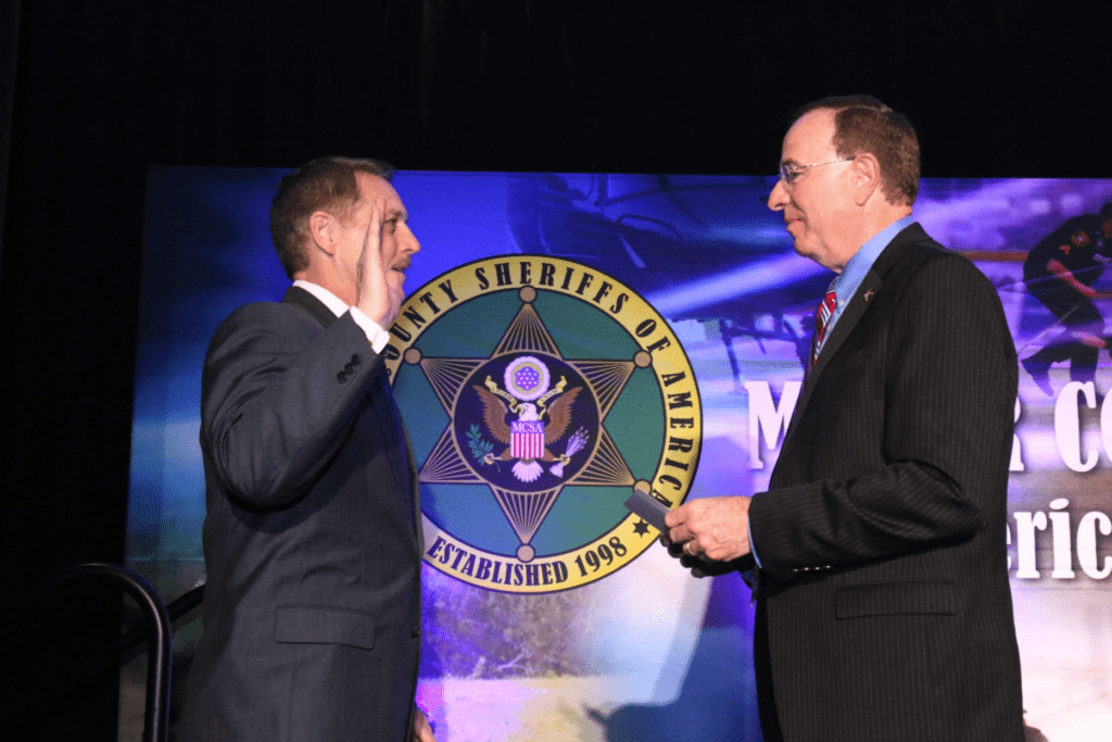 Sheriff Michael Chapman Sworn In as MCSA Vice President of Homeland Security at 2019 Winter Conference