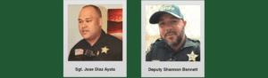 Sgt. Jose Diaz Ayala and Deputy Shannon Bennett 2020
